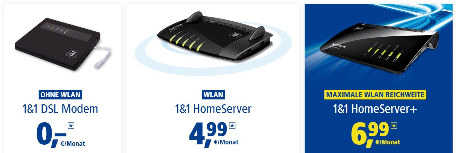 1&1 Homeserver WLAN-Router